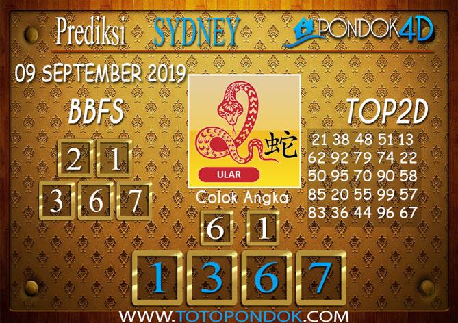 Prediksi Togel SYDNEY PONDOK4D 09 SEPTEMBER 2019