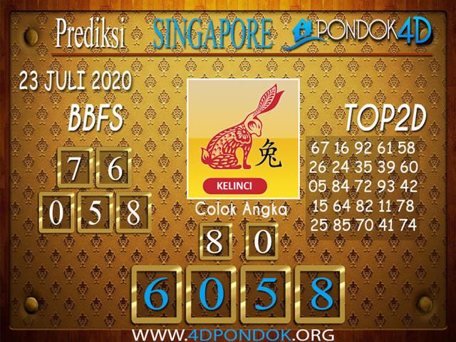 Prediksi Togel SINGAPORE PONDOK4D 23 JULI 2020