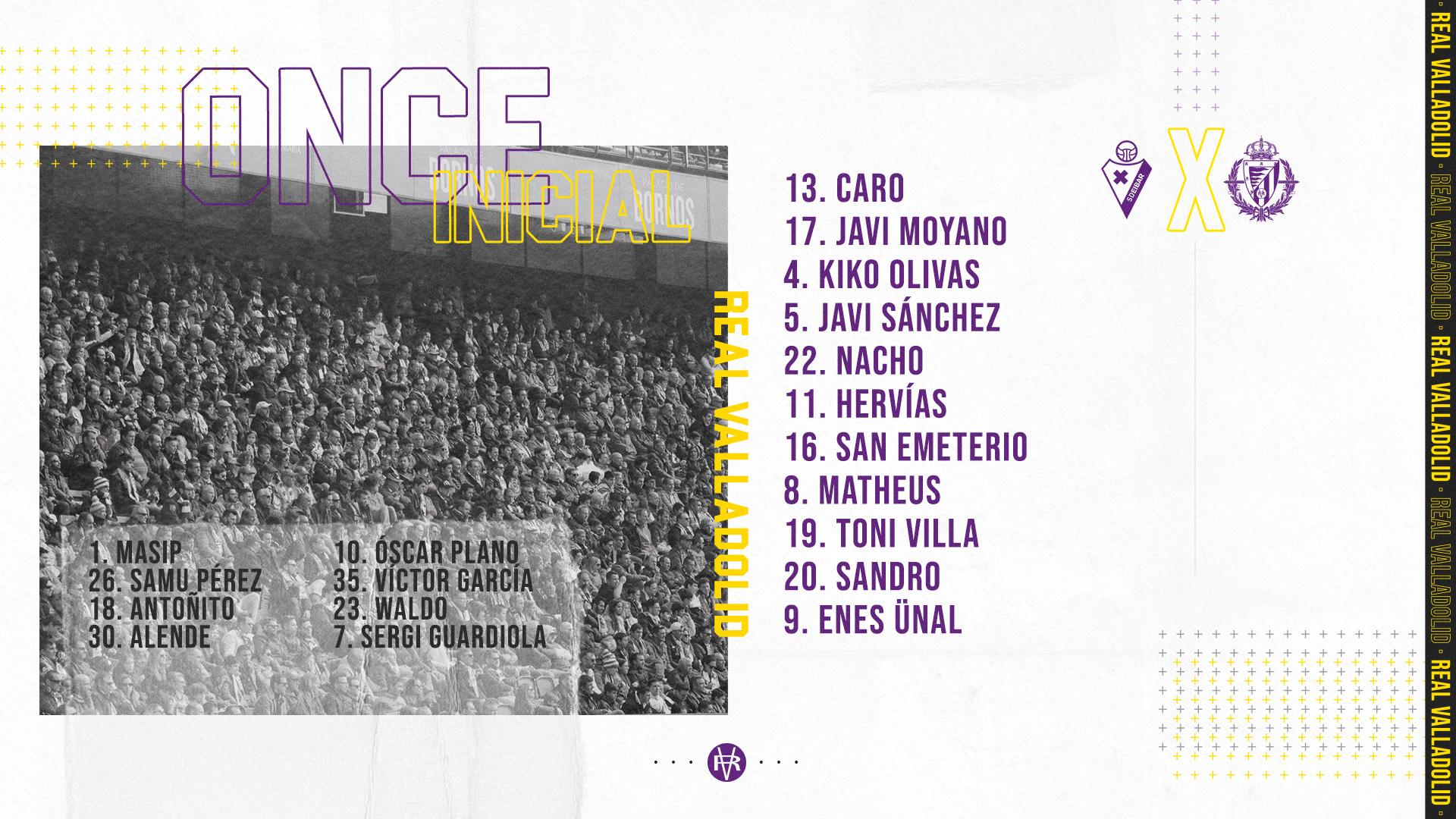 Real Valladolid C.F. - F.C. Barcelona. Sábado 11 de Julio. 19:30 - Página 2 Once-Eibar