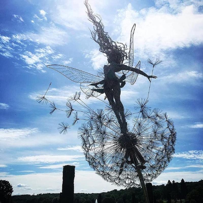 0-Mythical-Faery-Flower-Fairy-Dandelion-Fairies-Pixies-Decor-Garden-Decoration-Statue-Lawn-Landscape