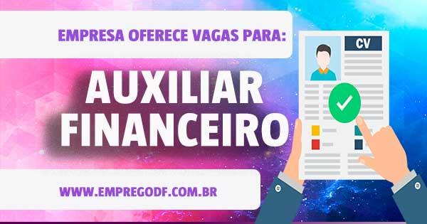 EMPREGO PARA AUXILIAR FINANCEIRO