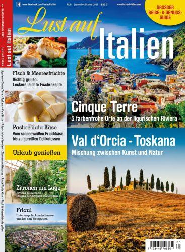Cover: Lust auf Italien Magazin No 05 September-Oktober 2021