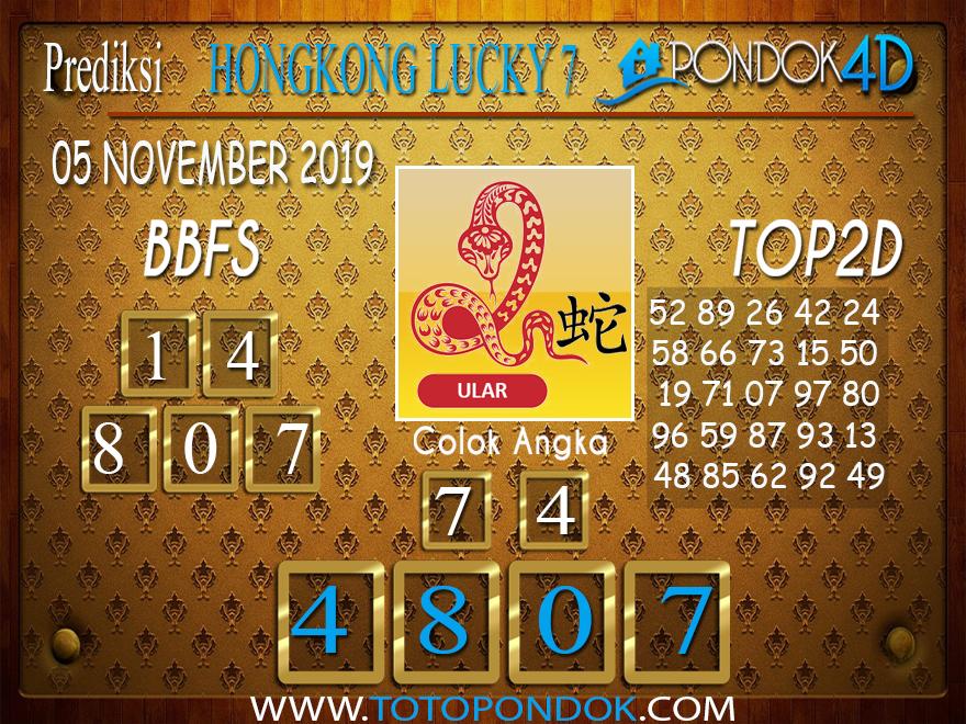 Prediksi Togel HONGKONG LUCKY 7 PONDOK4D 05 NOVEMBER 2019