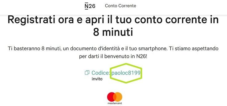 N26 10,00€ +20,00€ e addio spese su acquisti all'estero + Scegli tu il PIN Carta! Mastercard Gratis. Testata4-n26-1