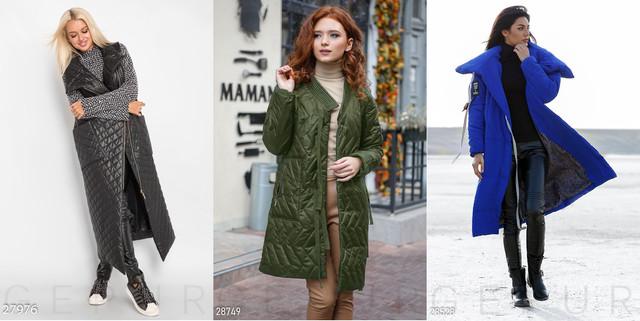 длинное женское синтепоновое пальто