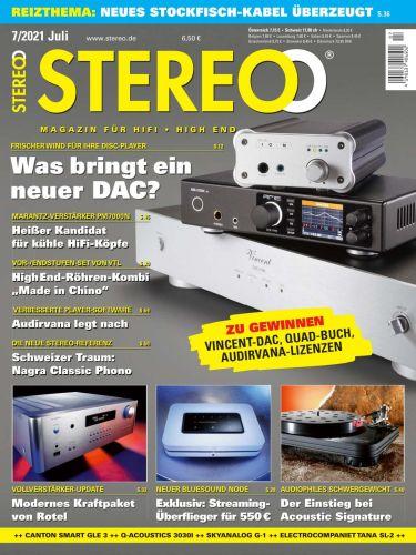 Cover: Stereo Magazin für HiFi, High End und Musik Juli No 07 2021