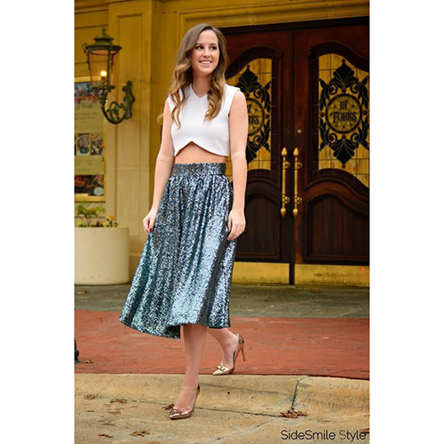 ORLEANS SEQUINED MIDI SKIRT best christmas outfit