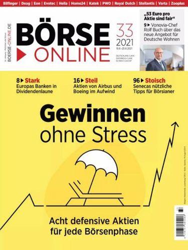Cover: Börse Online Magazin No 33 vom 19  August 2021