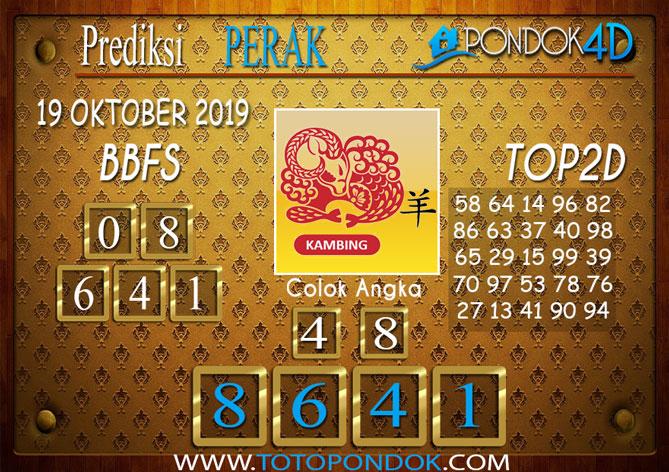 Prediksi Togel PERAK PONDOK4D 19 OKTOBER 2019