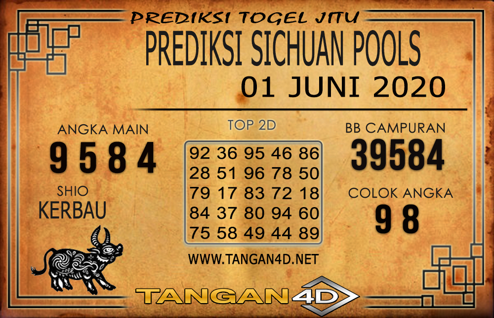 PREDIKSI TOGEL SICHUAN TANGAN4D 01 JUNI 2020