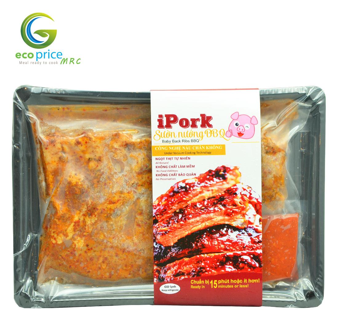 Combo Sườn Nướng Tảng BBQ iPork- Khay- 700gr- Ami