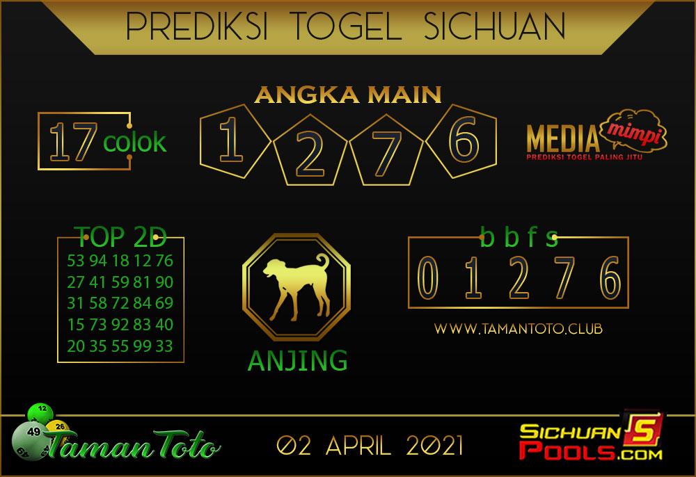 Prediksi Togel SICHUAN TAMAN TOTO 02 APRIL 2021