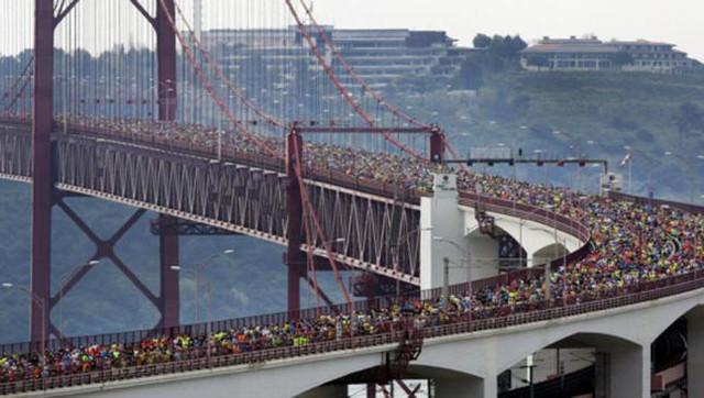 Salida Medio Maratón Lisboa Travelmarathon.es