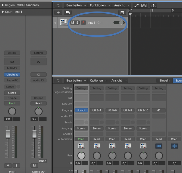 What does Inst 1 Ch1 stands for? - Logic Pro Help
