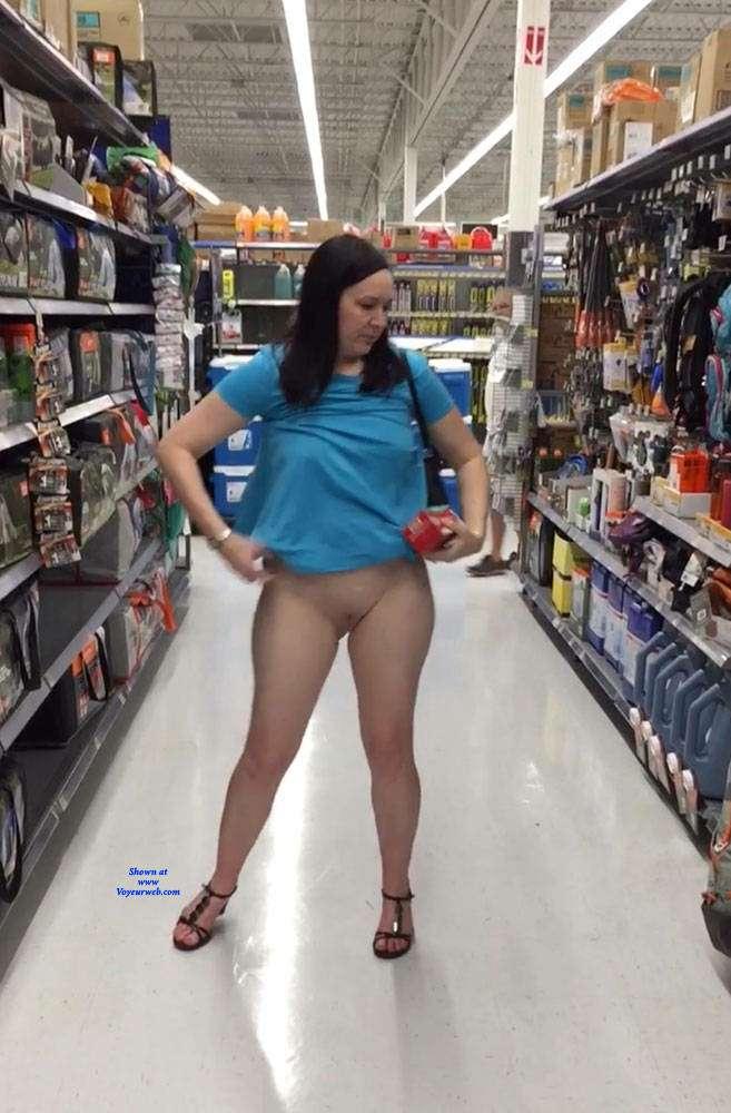 Girl caught nude in public