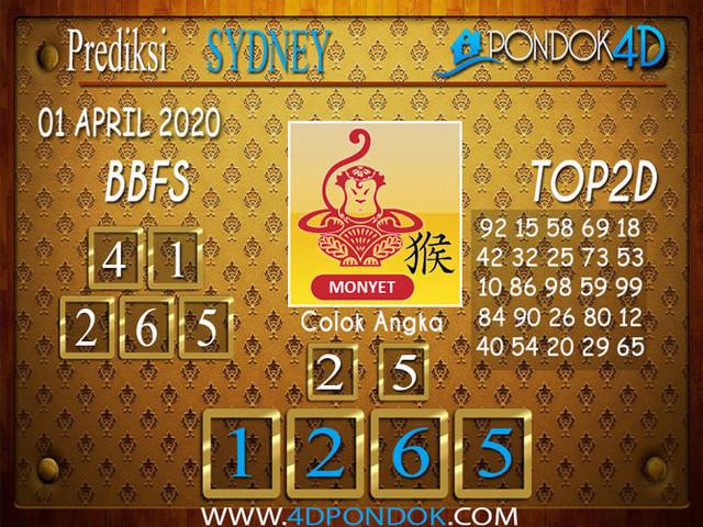 Prediksi Togel SYDNEY PONDOK4D 01 APRIL 2020