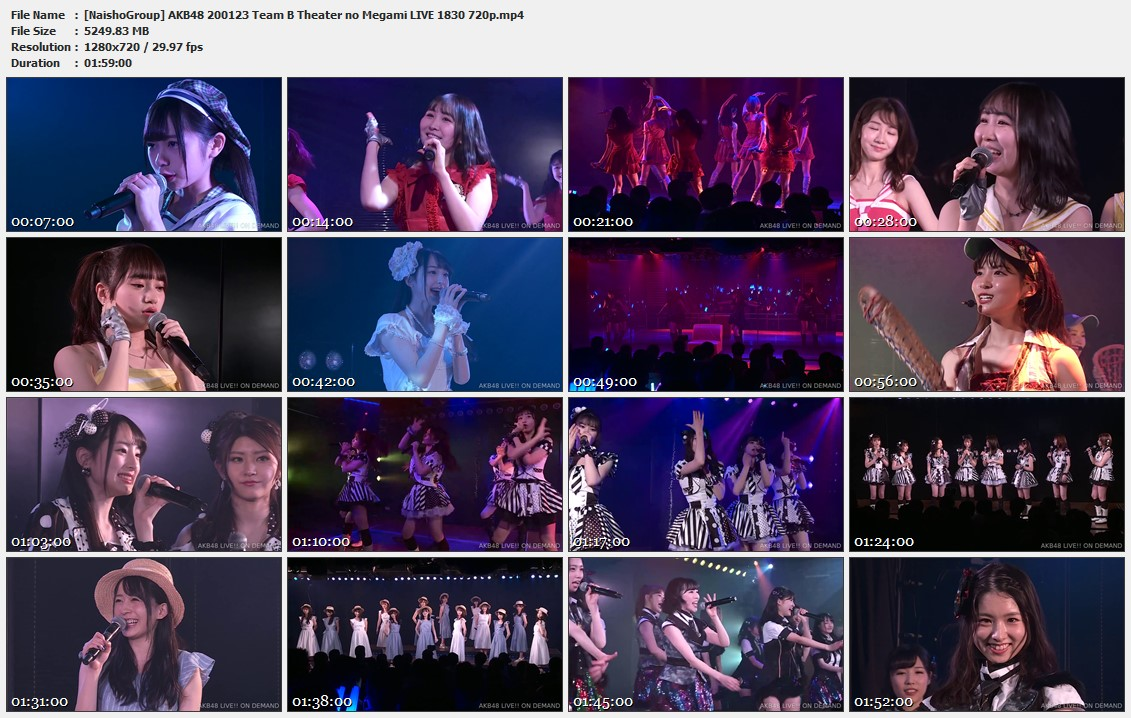 Naisho-Group-AKB48-200123-Team-B-Theater-no-Megami-LIVE-1830-720p-mp4