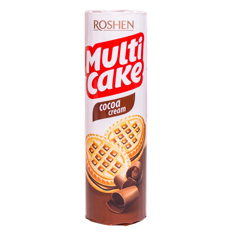ნამცხვარი-სენდვიჩი Multicake კაკაოს შიგთავსით roshen180 გრ/