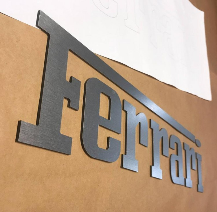 FERRARI CAR LASERCUT MANCAVE DISPLAY SIGNS 3