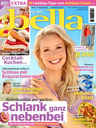 Cover: Bella Frauenmagazin No 32 vom 04  August 2021