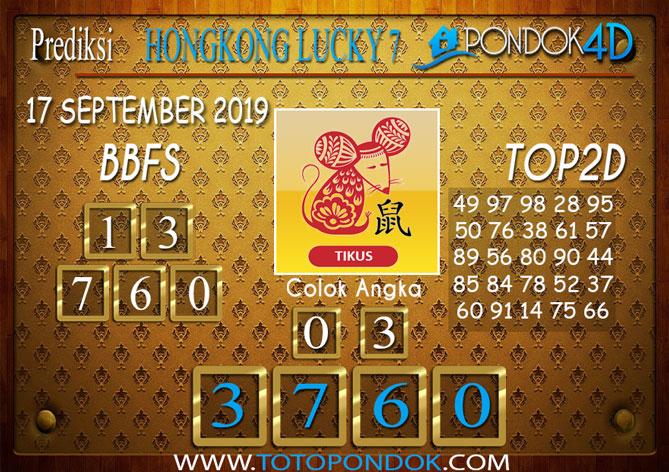 Prediksi Togel HONGKONG LUCKY 7 PONDOK4D 17 SEPTEMBER 2019