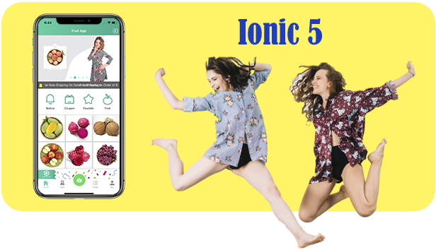 Ionic5 Fruits Commerce Shop App With Admin Backend