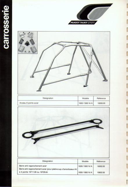 Catalogue PTS pièces compétition - 205 GTI 1600-1900 gr. N/A PTS-Carrosserie-2