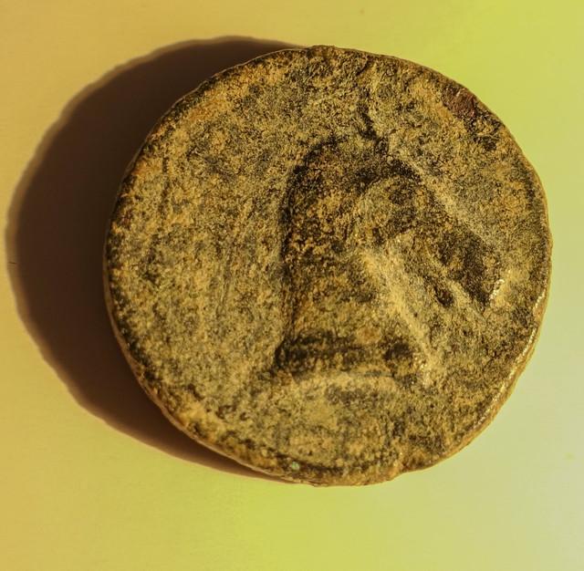 Calco hispano-cartaginés. Tanit/Cabeza de caballo. Cart2-1