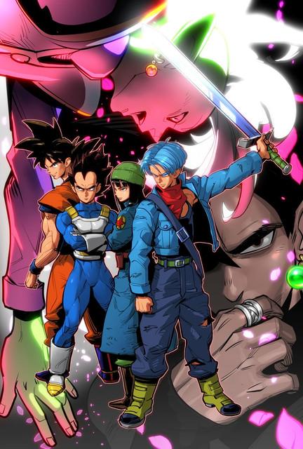 gokuu-black-mai-son-gokuu-trunks-vegeta-and-others-dragon-ball-dragon-ball-super-and-dragon-ball-z-d
