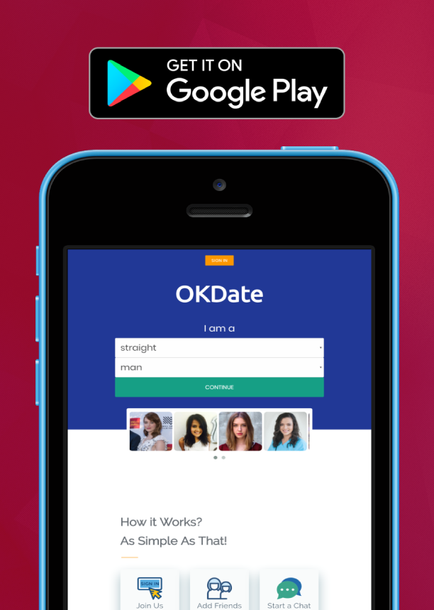 OkDate - Android dating and web date - 2