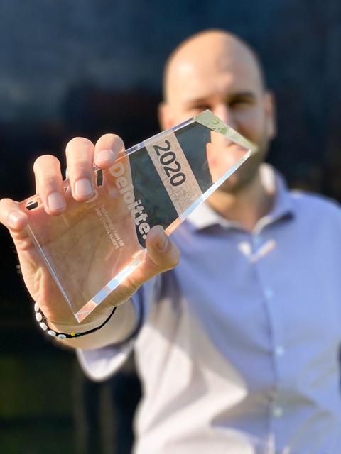 Martin Březina, CEO společnosti UlovDomov.cz, převzal ocenění Deloitte Technology Fast 50