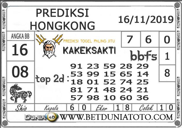 """Prediksi Togel """"HONGKONG"""" DUNIA4D 16 NOVEMBER 2019"""
