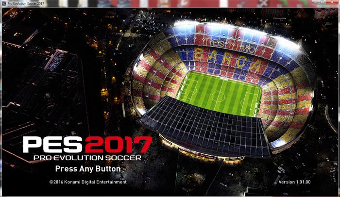 pes 2017 start screen