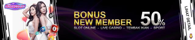 Bonus new member 50%