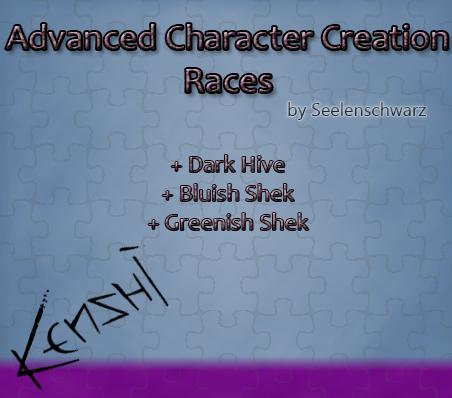 Advanced Character Creation - Races / Расширенное создание персонажей - расы