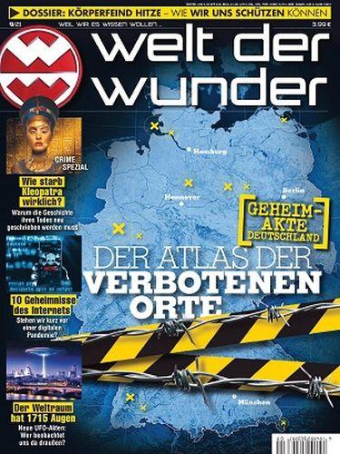 Cover: Welt der Wunder Magazin No 09 September 2021