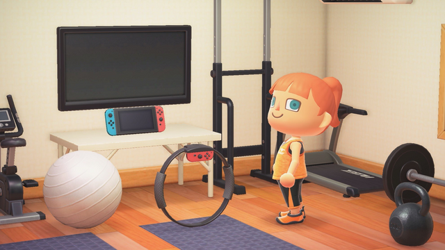 此次《集合啦!動物森友會》1.5.0版本秋季更新,官方將贈送給玩家全新傢俱:健身環(一次性解決缺貨問題)。 Image