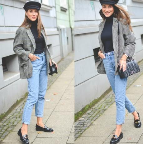 лоферы с джинсами