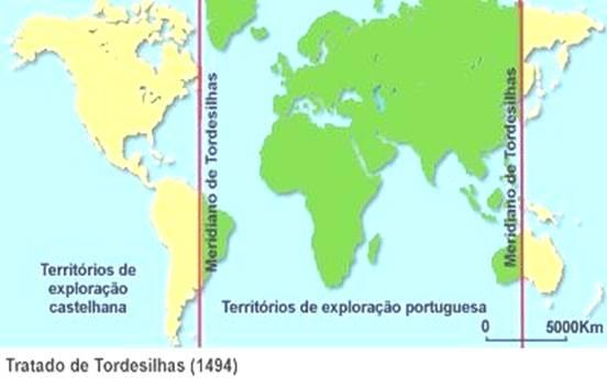 O mundo dividido no Tratado de Tordesilhas