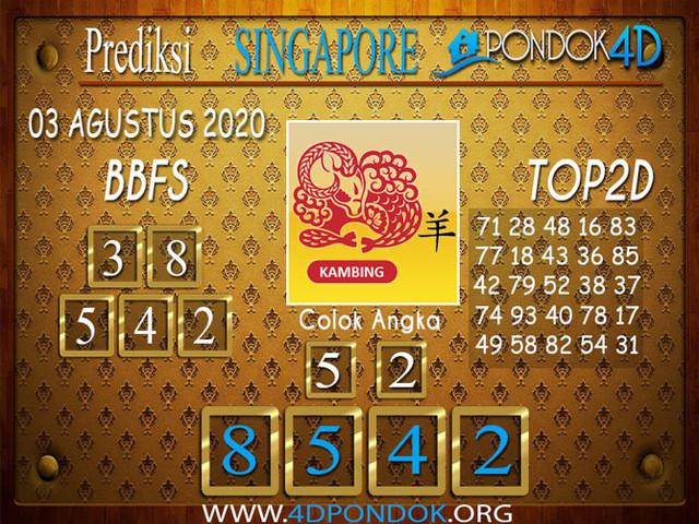 Prediksi Togel SINGAPORE PONDOK4D 03 AGUSTUS 2020