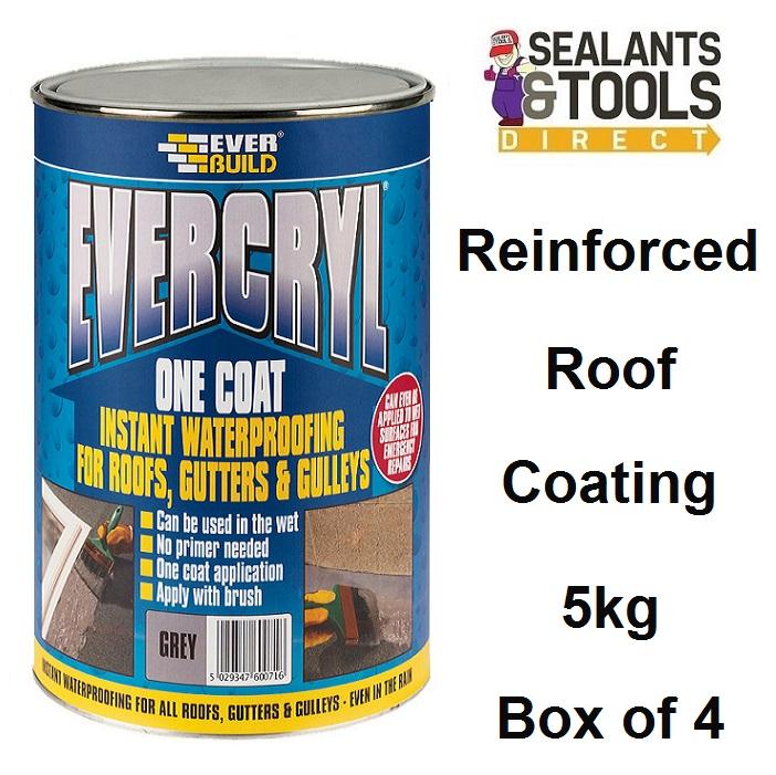Everbuild Evercryl Fibre Reinforced Roof Repair Compound