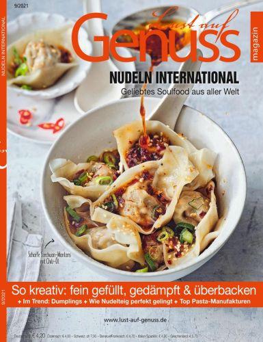 Cover: Lust auf Genuss Magazin September No 09 2021