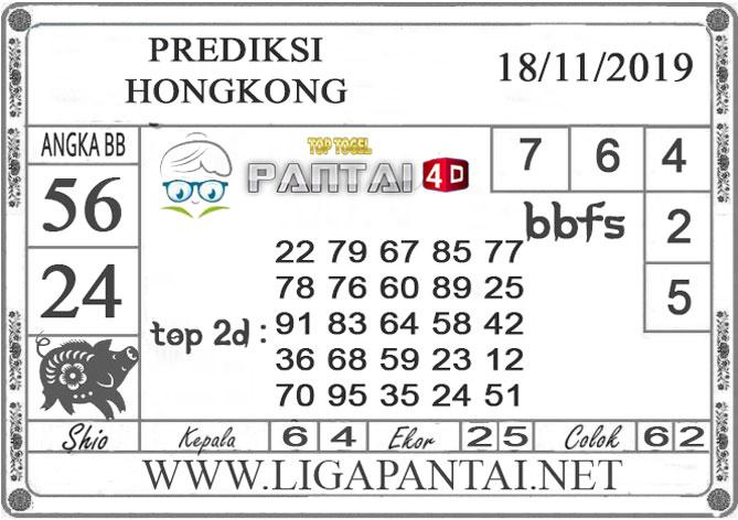 """PREDIKSI TOGEL """"HONGKONG"""" PANTAI4D 18 NOVEMBER 2019"""