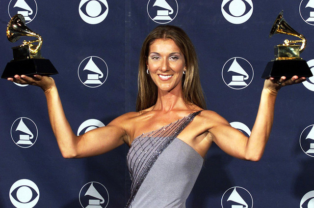 Celine-Dion-grammy-for-My-Heart-Will-Go-