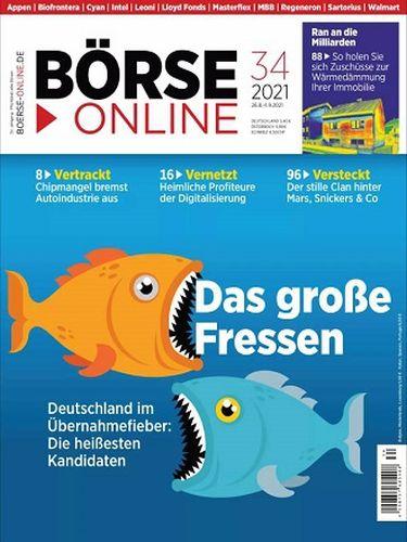 Cover: Börse Online Magazin No 34 vom 26  August 2021