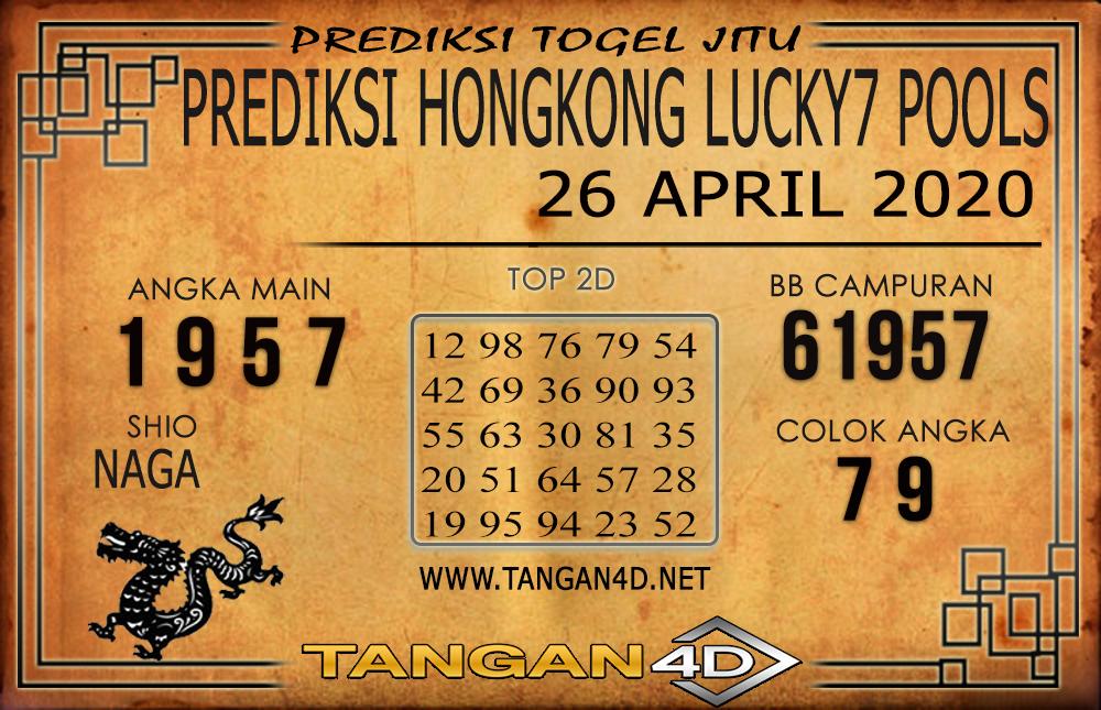 PREDIKSI TOGEL HONGKONG LUCKY 7 TANGAN4D 26 APRIL 2020