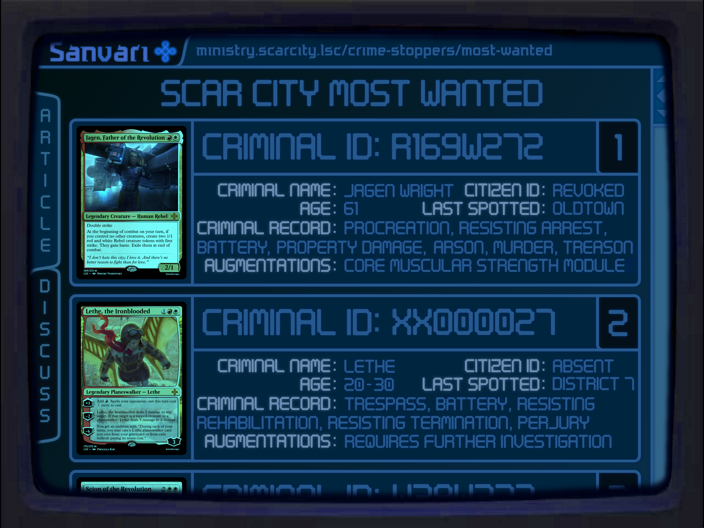 Scar City's Most Wanted