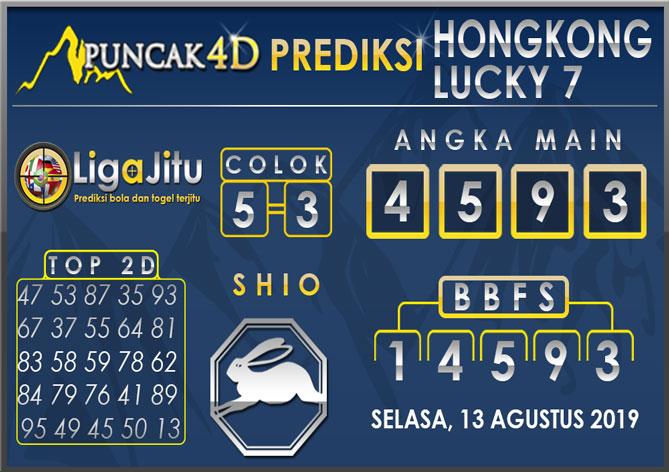 PREDIKSI TOGEL HONGKONG LUCKY7 PUNCAK4D 13 AGUSTUS 2019