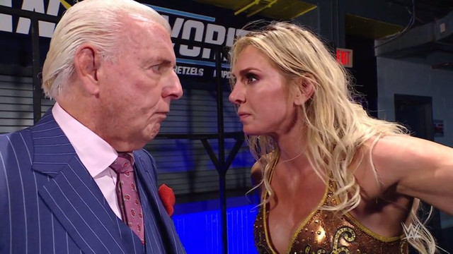 Charlotte Flair discute con Ric Flair RAW 22 Febrero