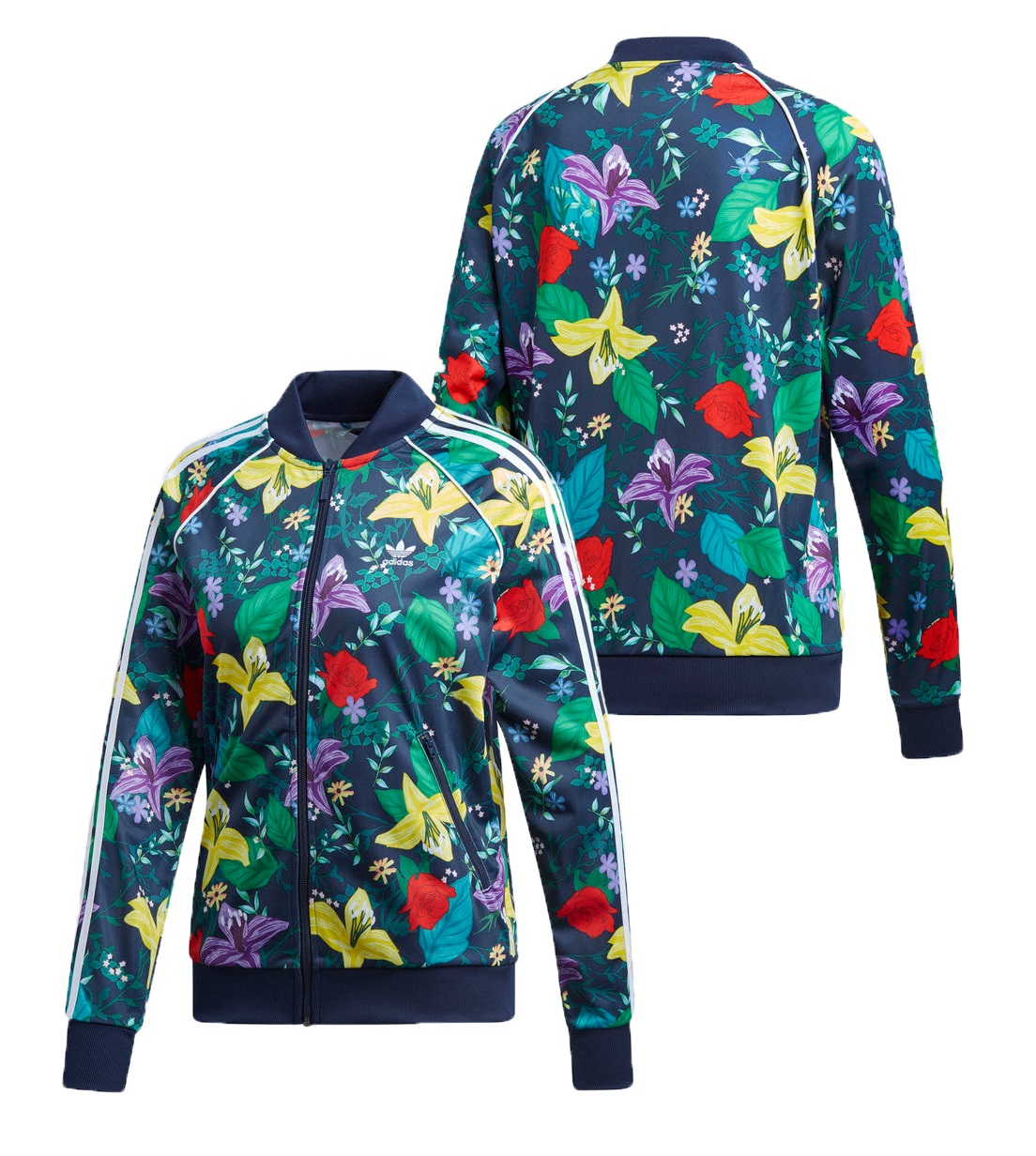 detailed images good quality various styles Details about New Adidas 2019 SST Graphic Multicolor hoodie Flower Track  Floral Jacket ED6584
